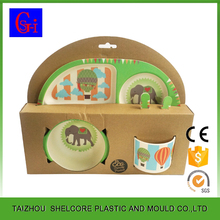 Bamboo Plate Set For Kids