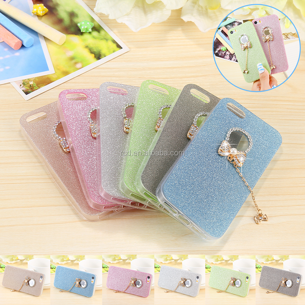 2016 alibaba China smartphone case bowknot tpu soft case bumper cover for iphone5s