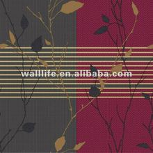 special design vinyl decorate natural leaves wallpaper HY4074 wall paper