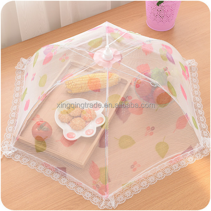 Hexagon gauze Food Covers Umbrella Style Anti Fly Mosquito Kitchen cooking Tools meal cover table mesh food cover