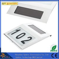 Outdoor 3led waterproof doorplate solar power address lights