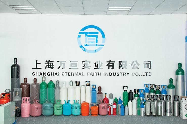 sefic gas cylinder sample display area