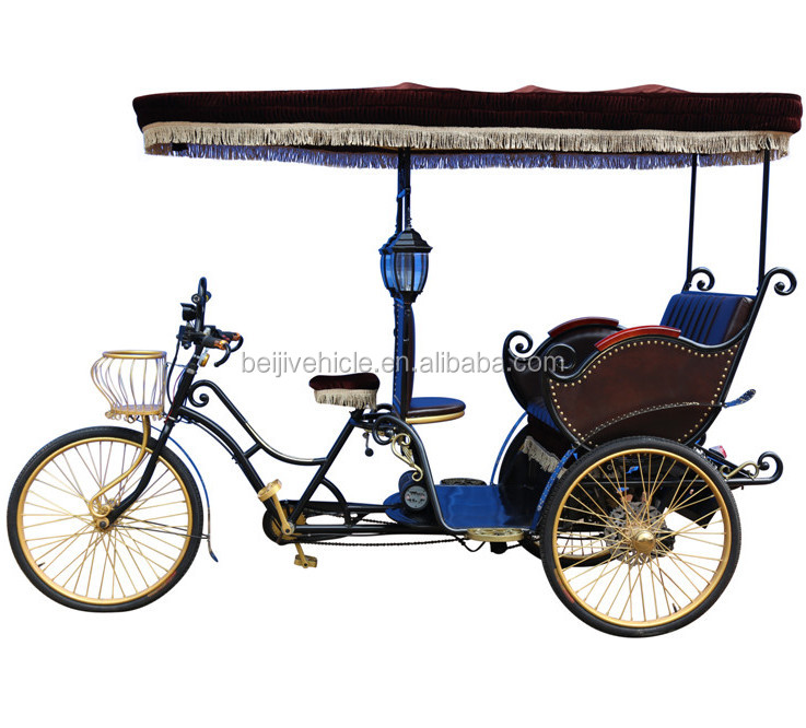 Made in China sightseeing passenger electric 3 wheel front loading tricycle rickshaw
