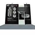 Detian Offer tension fabric trade fair exhibition display system booth stand pvc panel