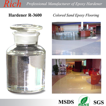 Color Sands Flooring, epoxy resin flooring, Epoxy Flooring Curing Agent, Epoxy Hardener R-3600