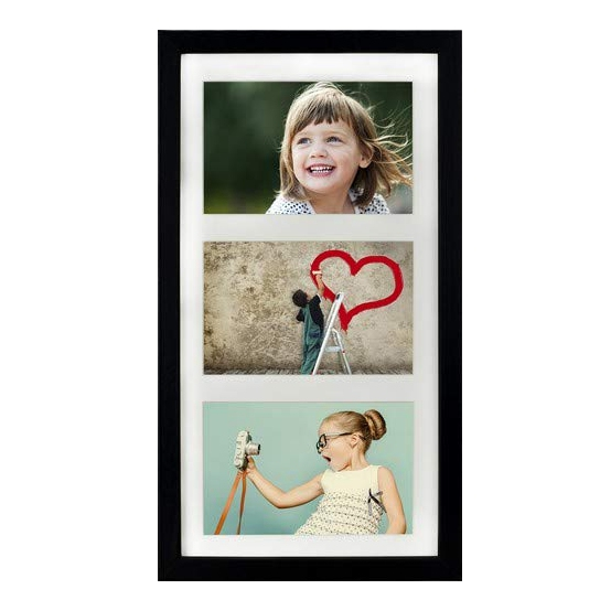 New arrival white 3 Aperture Picture Photo Frame for 4 x 6-Inch photo