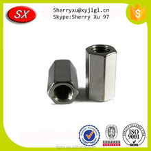 China factory custom high precision stainless steel male threaded rod coupling