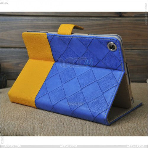 For ipad mini case Striking Mix-Color PU Leather Case Cover With Built-In Stand P-iPDMINICASE111