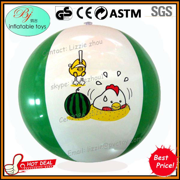 print customize logo promotion phthalate-free pvc tpu inflatable beach ball