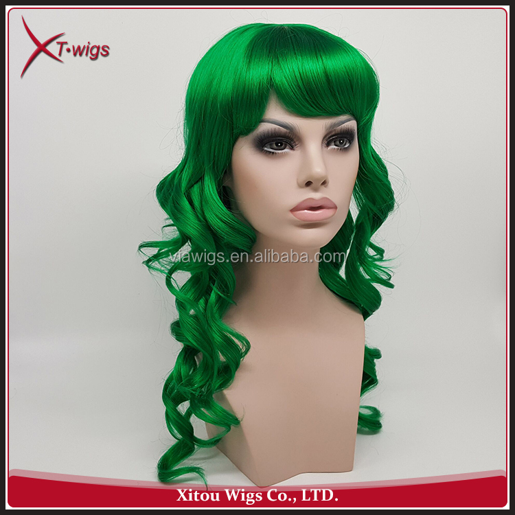 High Quality Charming Synthetic Wavy Fake Black Hair Wigs