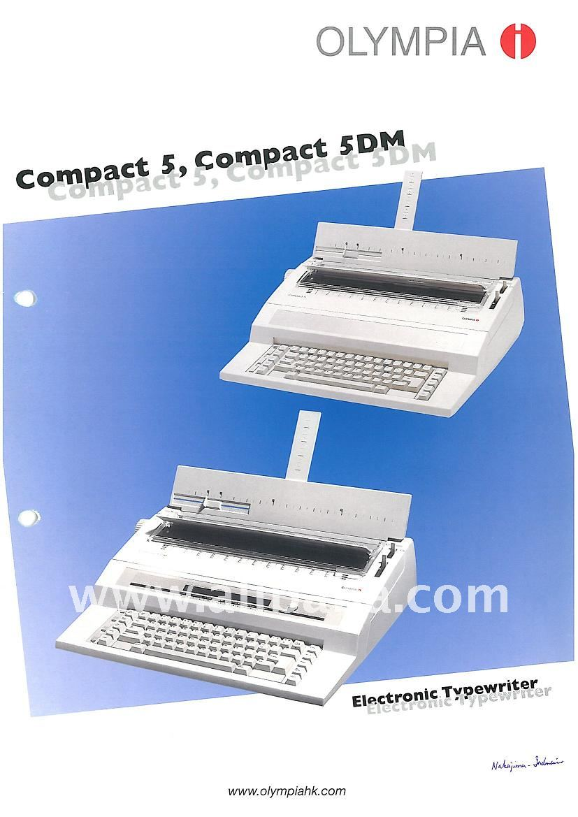 Olympia Electronics Typewriter - Compact 5 & Compact 5DM
