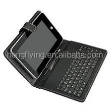 Pu leather bluetooth keyboard tablet case manufacture in China