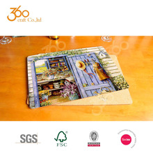 SALE Commercial Eco-friendly wood art beautiful breakfast table placemat customize