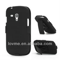 Slide Case with Belt Clip Swivel Holster Stand Samsung i8190 Galaxy S3 III Mini