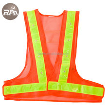 16 lights Outdoor Running High Visibility Reflector Clothing LED Safety Vest