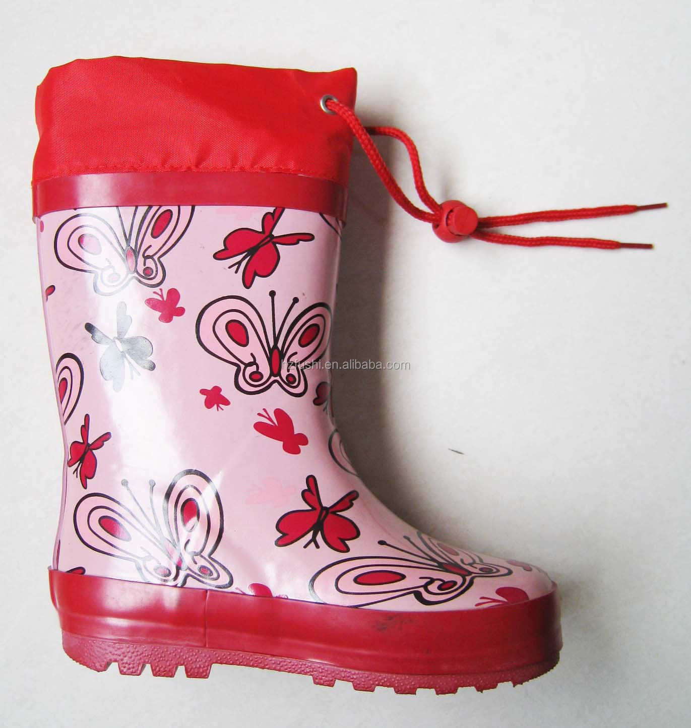 Stylish Butterfly Print Custom Made Wellington Boots