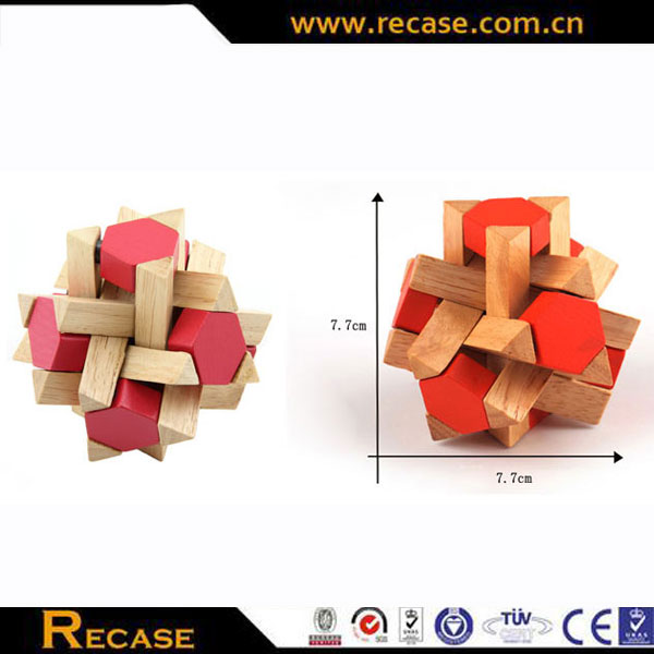 Wooden construction toy magnetic block wood block set