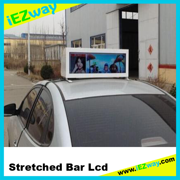 2017 iEZway Whole Sale China Factory Alibaba Com 14.9 19 28 32 38 42 inch Ultra Wide Outdoor Taxi LCD Display