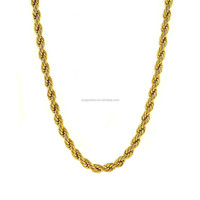 2015 Fashion Luxury Stainless Steel China Factory Direct Wholesale Gold Rope Chain