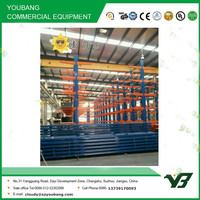 Hot sell best price multi level long span double arm light duty cantilever rack, cantilever rack (YB-WR-C91)