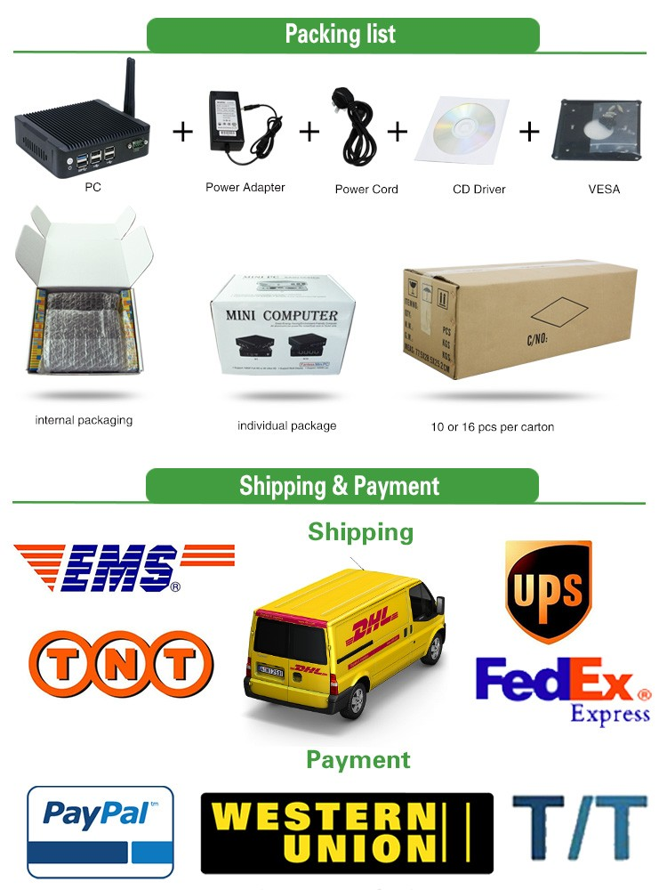 Baytrail J1900 Quad core industrial oem mini pc with 6USB and 1COM for kiosk