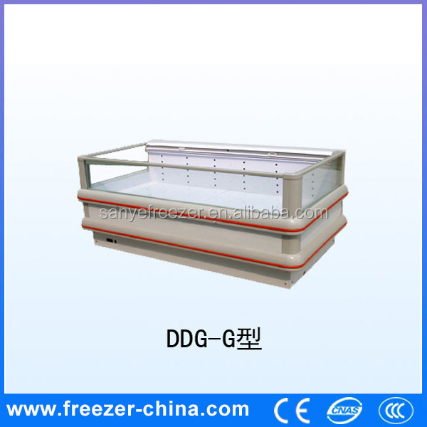 China Commercial retail horizontal used supermarket refrigeration equipment