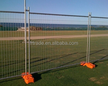 Galvanized temporary guardrail removable fence