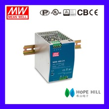 Original MeanWell 480W Industrial DIN RAIL Power Supply 48V 10A SMPS NDR-480-48 Slim and Economical