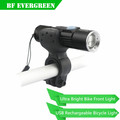 Easy Install/Quick Release Super Bright Rechargeable LED Bike Headlight USB,No need USB Cable
