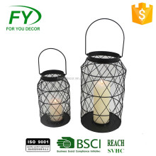High Quality As Wedding Decoration's Metal Lantern with glass panel,2 sides with acryl and owl decoration