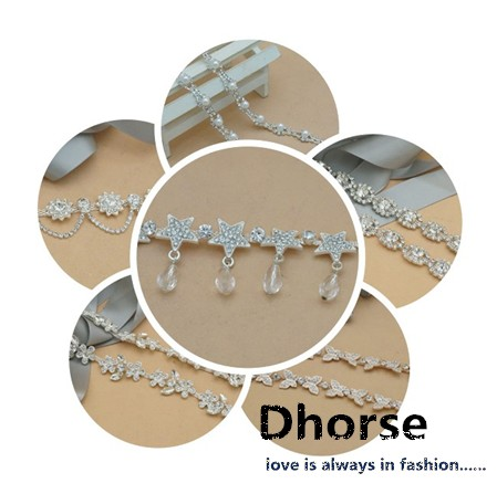 New fashion 8.5cm sparkling rhinestone fringe trim for garment