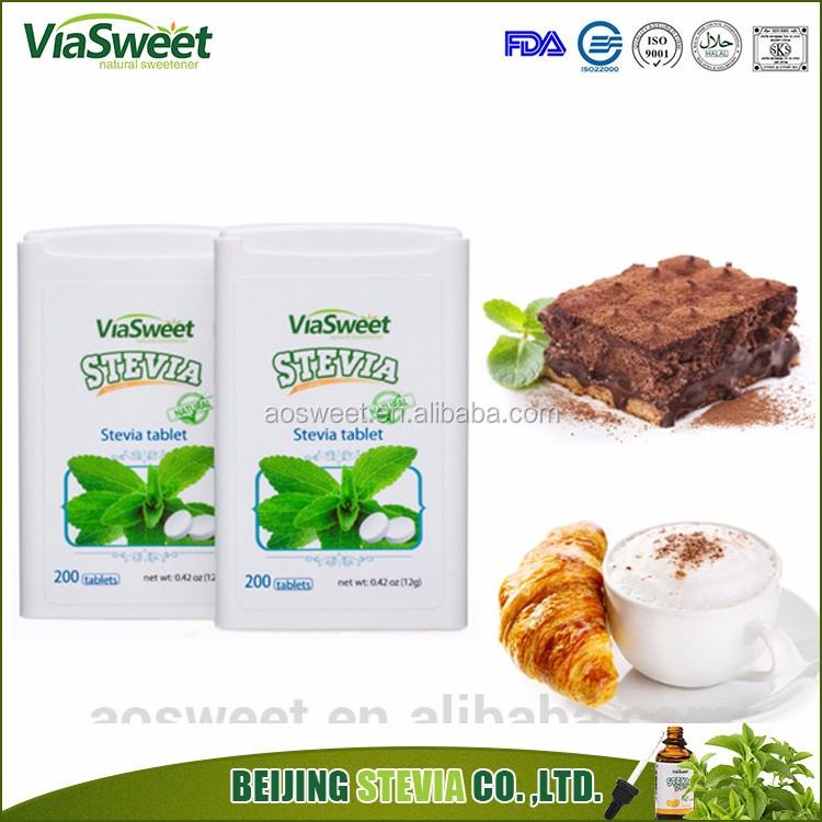 2017 hot sell with stevia sugar tablets