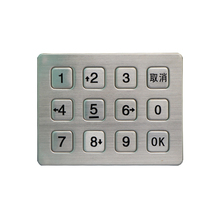 custom usb keypad usb metal numeric silicon button keypad