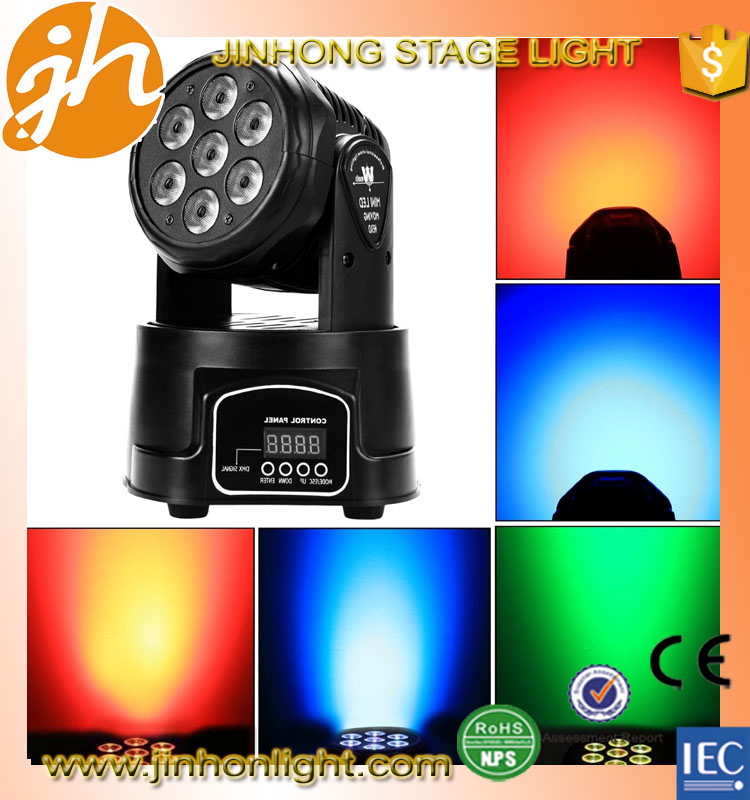 China dj lights rgbw 7x10w 4in1 beam wash mini led moving head