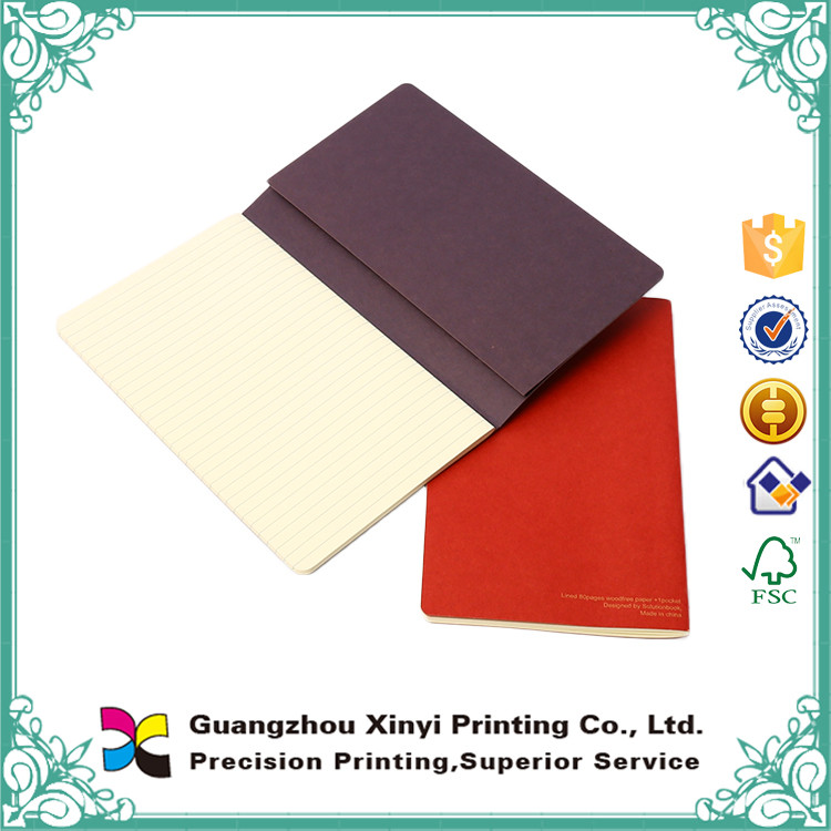 Attractive design excellent quality art paper handmade cheap blank notebook
