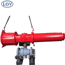 "6"" 600LB Cast Steel WCB Two Pcs Flange End Pneumatic Trunnion Ball Valve Price"