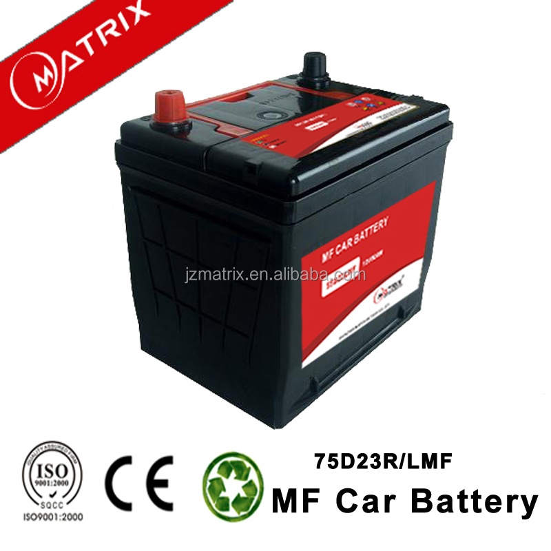 Popular models MF 12V 65AH 75D23 storage Battery for car starting Made in China