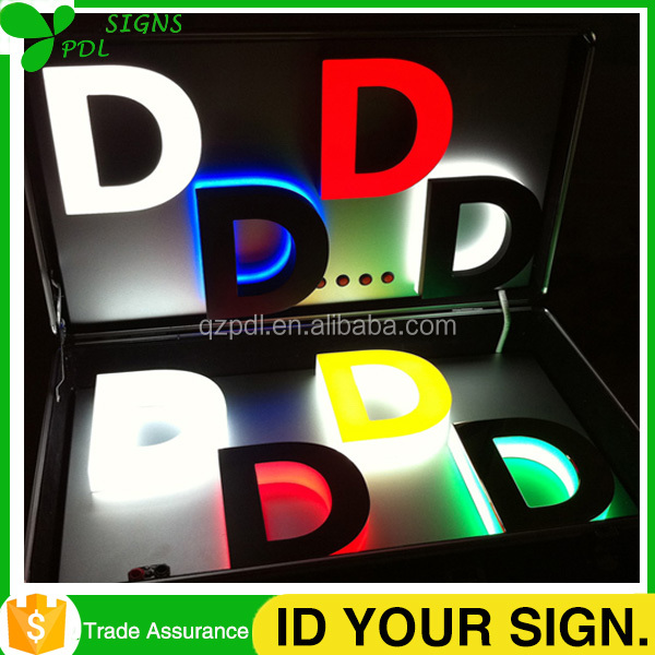 Different Styles Alphabet Letter 3D Channel Letter Sign