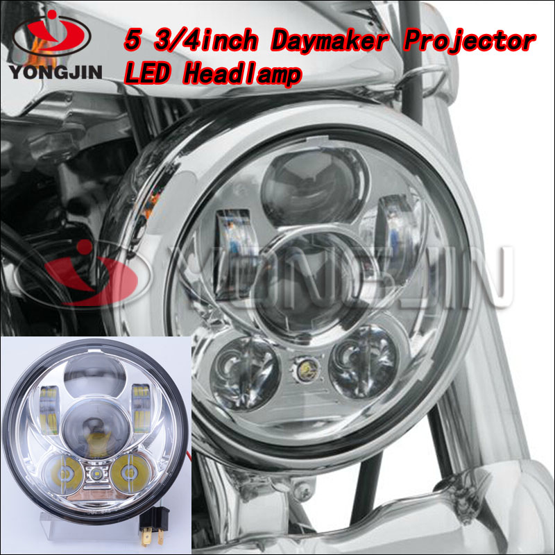 Motocycle 5.75'' Hi/Lo led headlight 45w C-ree 5-3/4'' led headlight for any motor 5.6'' round led headlight replacement