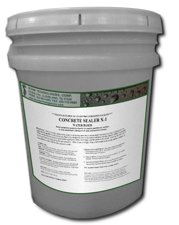 5 Gallons of Concrete Sealer X-1 - silicate based densifier and hardener