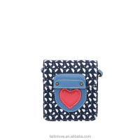 Hot!! printing dark blue birds canvas baby young girl kids bags heart design fashion shoulder bag,pattern shoulder bag