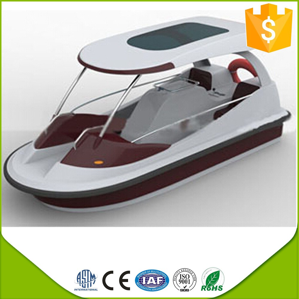 Electric fiberglass water pedal boat for sale