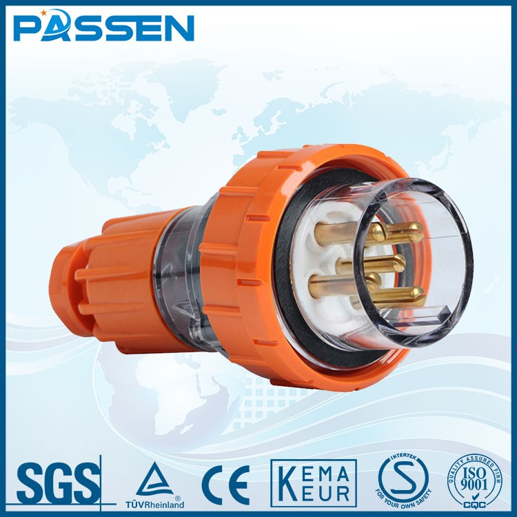 PASSEN Factory Price CE 16a 3p 220v ip55 new type electrical plug and socket