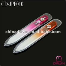 Jeweled crystal glass nail file with acylic stones CD-JPF010