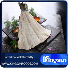 Best Quality Dried Salted Alaska Pollock Fillet/Migas/Butterfly Fish