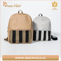 New leather paper backpack laptop washable Kraft paper backpack