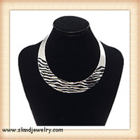Size & Shape customed chunky statement necklaces for women, low price good quality choker necklace amazon pop jewelry