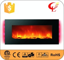 Wall mounted led electric fake indoor fireplaces