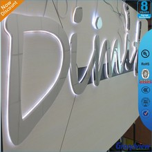 outdoor diy led backlit lmirror wall letters