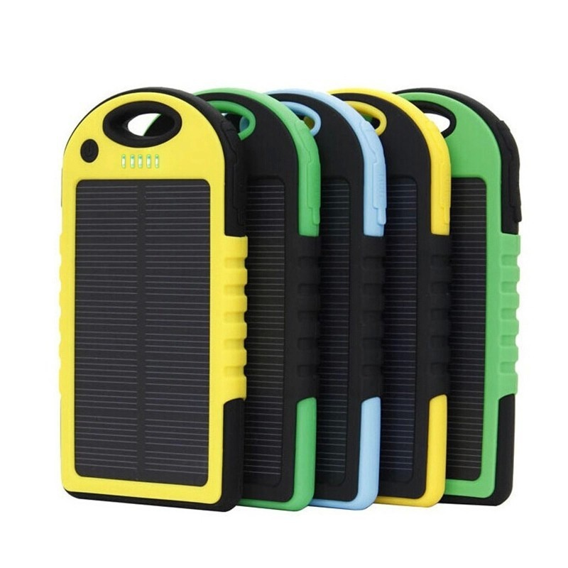 Portable Solar Cell Phone Solar Power Bank USB Battery Mobile Accessories Charger
